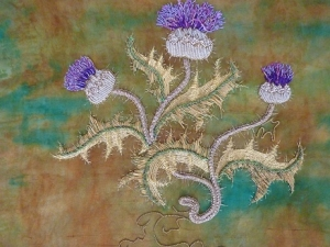 Goldwork Thistle