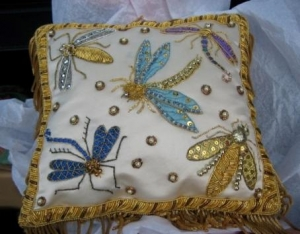 Goldwork Cushion