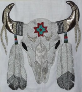 Native American Ceremonial Buffalo Skull by Jacqui Armitage