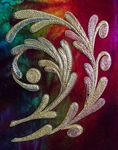 Experimenting with velvet by Wendy Rosier