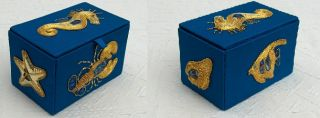 Goldwork embroidered boxes by Daphne Dedman