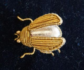 Goldwork Beetle by Sally Chapman